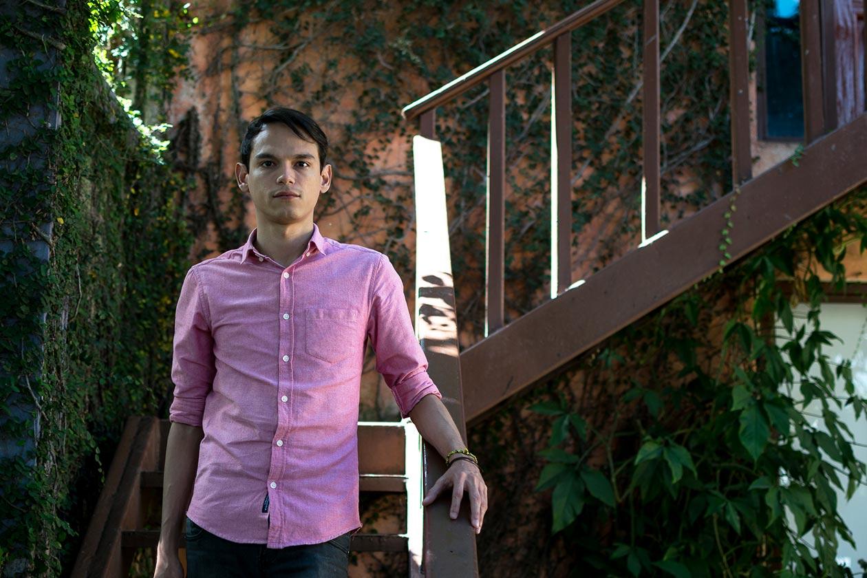 joven escritor en Nicaragua
