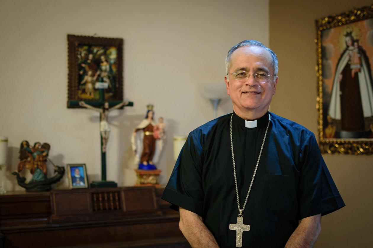 El obispo auxiliar de Managua, Silvio José Báez, conversó en exclusiva con Niú. | Foto: Franklin Villavicencio. Niú