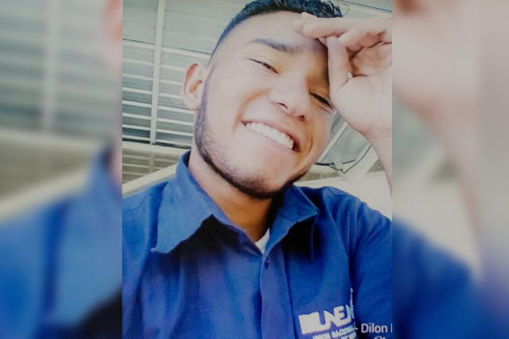 Dilon Zeledón, de 20 años, pertenecía a UNEN y era estudiante de contaduría pública. Cortesía / Niú