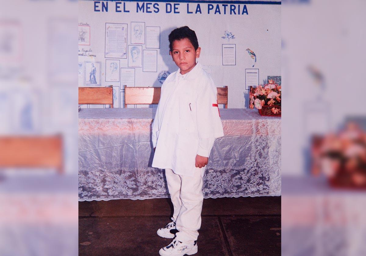 Hansell Vásquez, es el tercero de cuatro hermanos. Reproducción Carlos Herrera | Niú