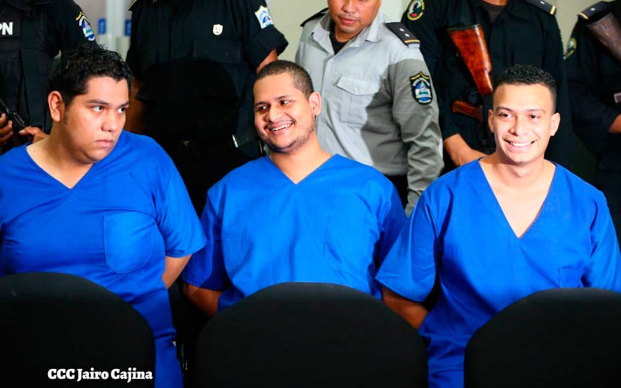 Hansell Vásquez, Rodrigo Espinoza y Marlon Fonseca fueron condenados a 17 años y medio. Tomada del 19 Digital | Niú