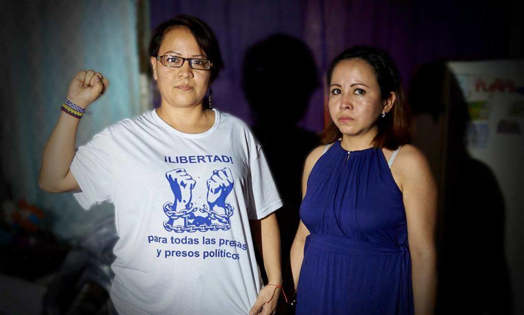 Ana Patricia y Yolanda Sánchez Moraga, presas políticas condenadas a seis años de cárcel. Carlos Herrera | Niú