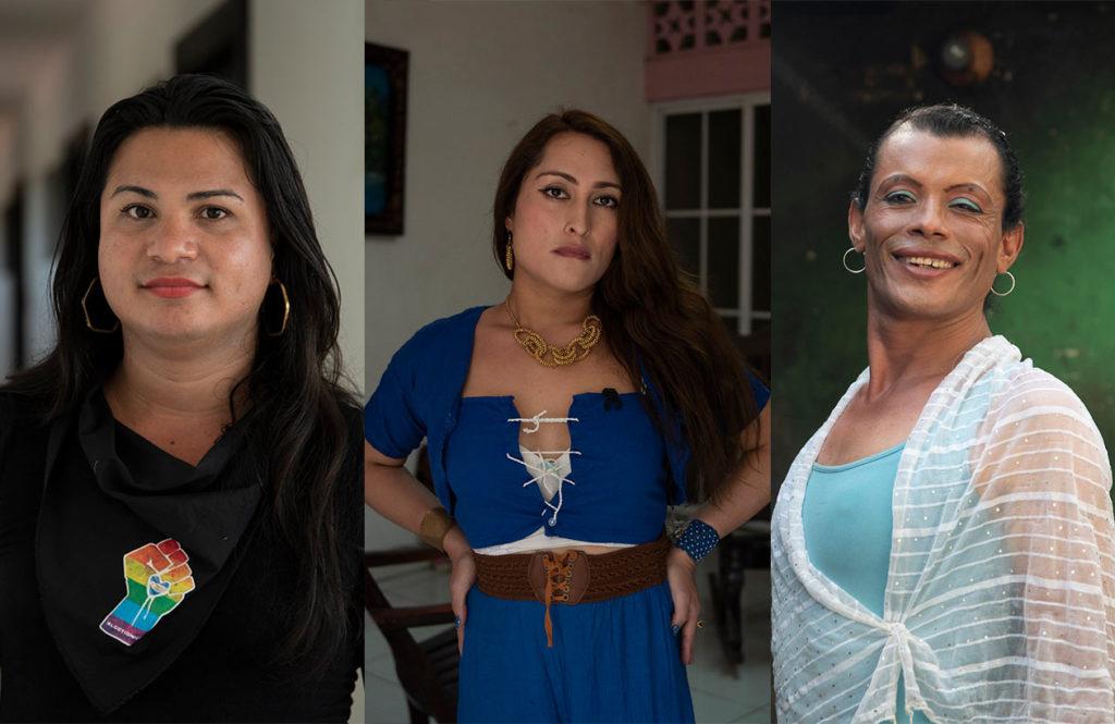 Victoria Obando, Kisha López y Carolina Gutiérrez son las tres mujeres transgénero que fueron arrestadas por unirse a la protesta cívica. Claudia Tijerino | Niú