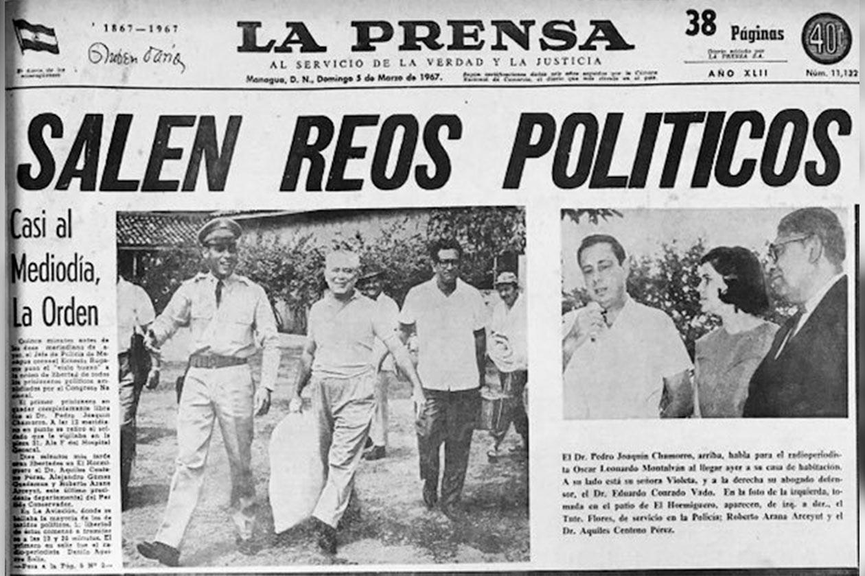 Daniel Ortega no ha reconocido oficialmente la existencia de presos políticos. Sin embargo, fue presionado a liberar y excarcelar a cientos de nicaragüenses que habían sido detenido por protestar en contra de su mandato. Esto también ocurrió entre 1960 y 1970, cuando existía la dictadura somocista.