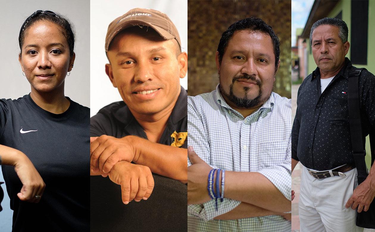 Reneé Ramos, Roberto Mora, David Quintana y David Quintana, periodistas nicaragüense. Carlos Herrera | Niú