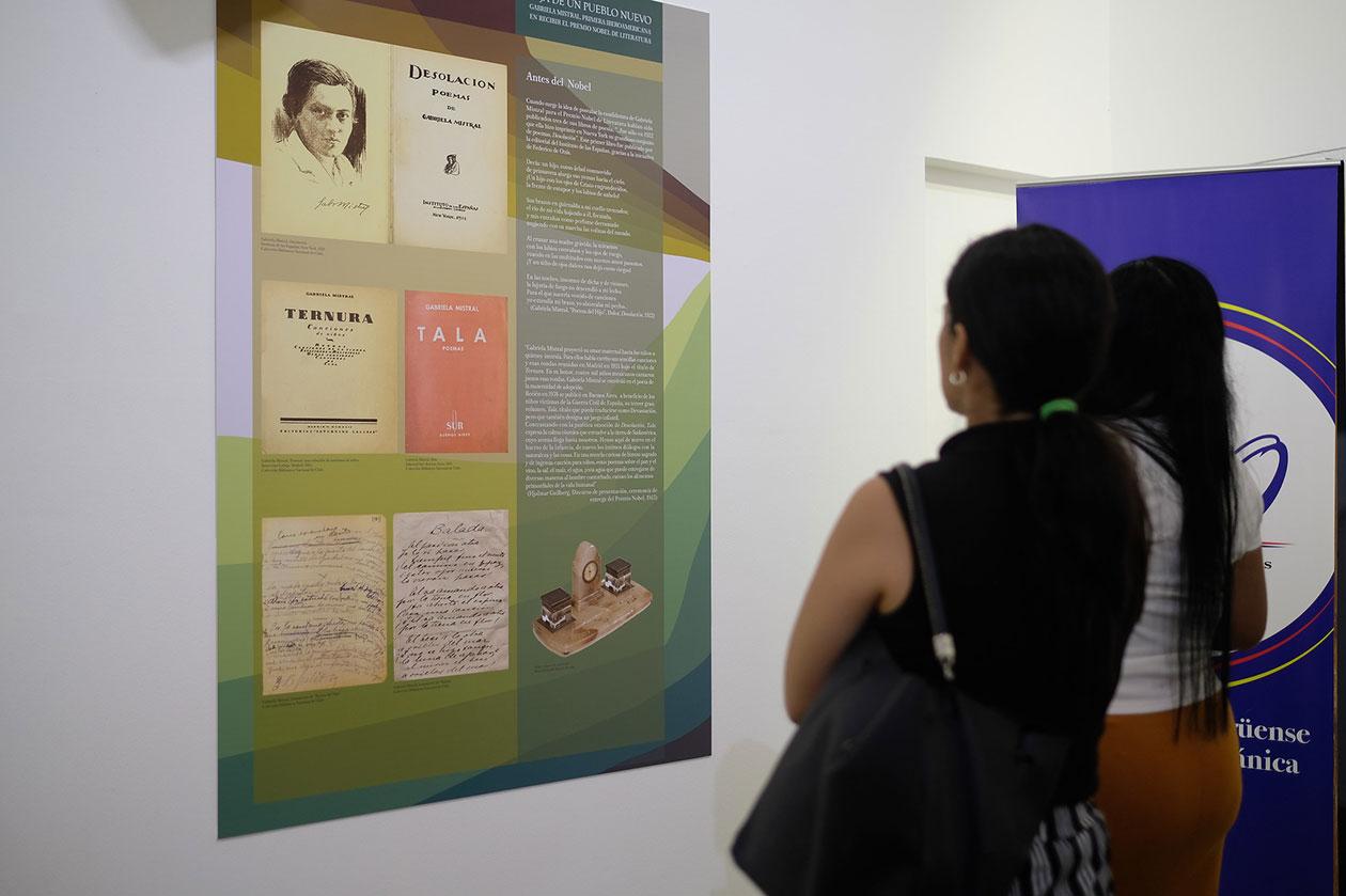 En la exposición se mostrarán algunos de los escritos que publicó Gabriela Mistral. Carlos Herrera | Niú
