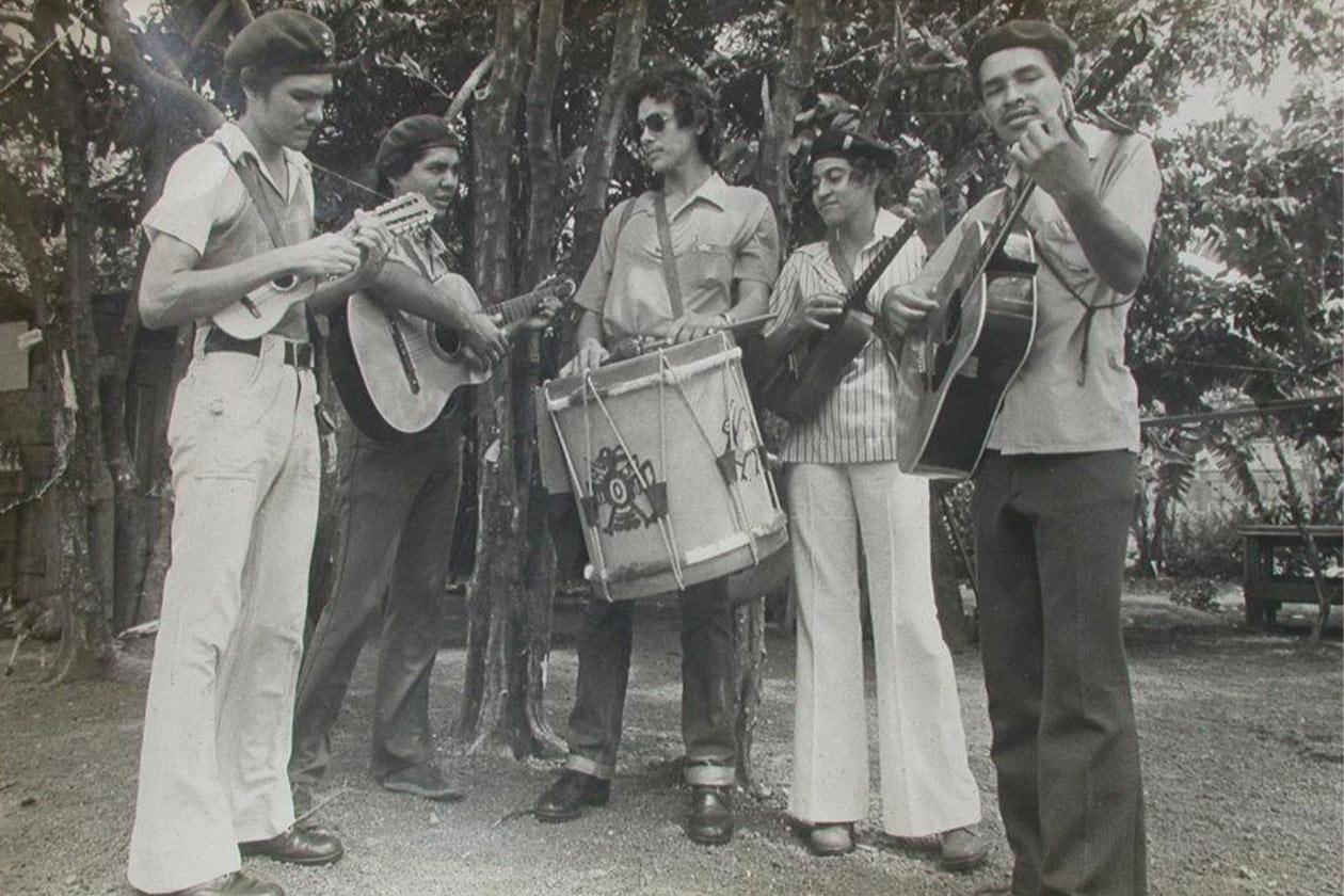 Grupo Pancasán en julio de 1979. Cortesía   Niú