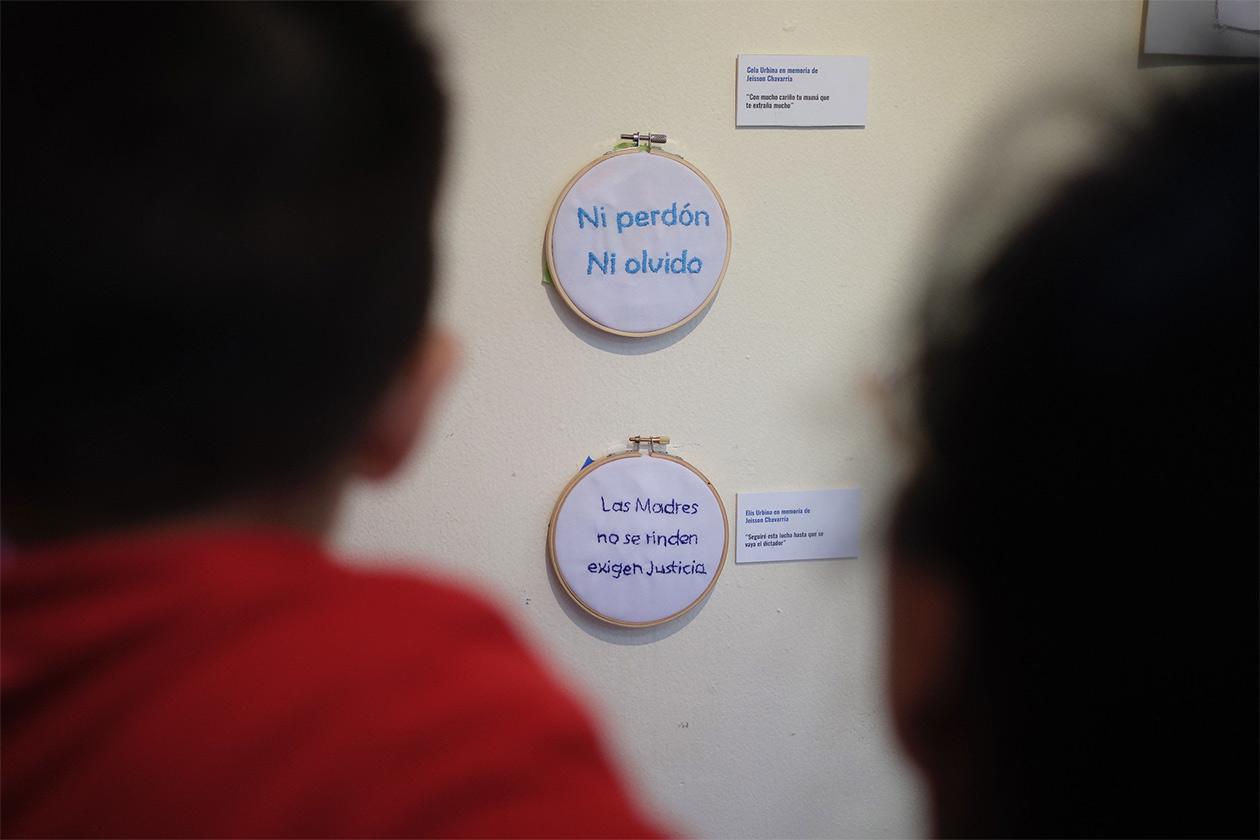 La exposición Bordar la Memoria se inauguró este primero de noviembre de 2019. Carlos Herrera | Niú