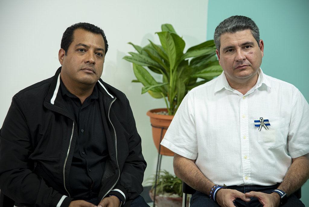 Félix Maradiaga y Juan Sebastian Chamorro