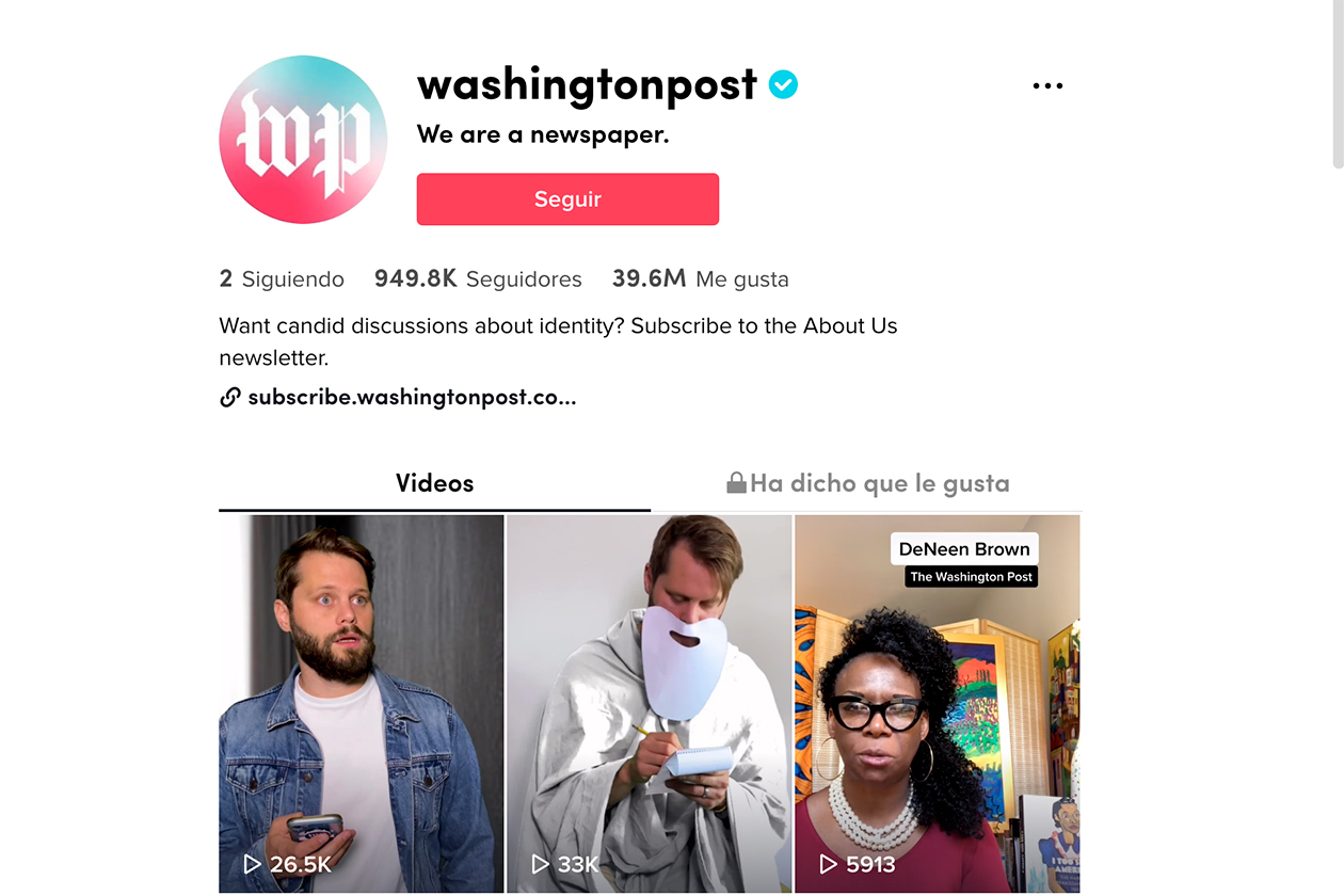 Periodismo en tiktok